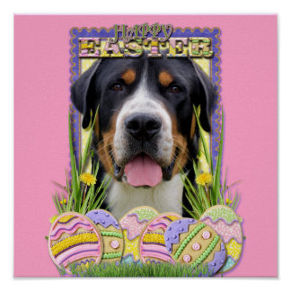 Easter Egg Cookies - Greater Swiss Mountain Dog Posters