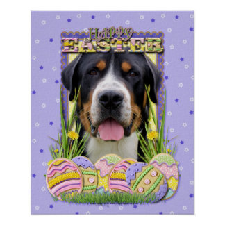 Easter Egg Cookies - Greater Swiss Mountain Dog Poster