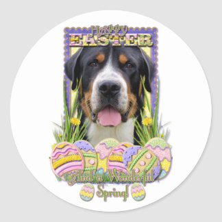 Easter Egg Cookies - Greater Swiss Mountain Dog Sticker