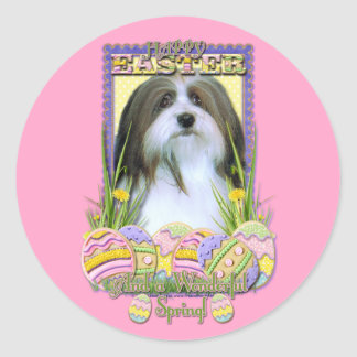 Easter Egg Cookies - Havanese Classic Round Sticker
