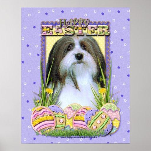 Easter Egg Cookies - Havanese Poster