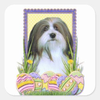 Easter Egg Cookies - Havanese Square Sticker