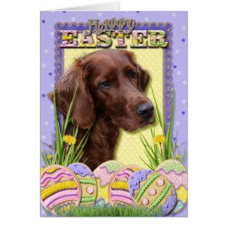 Easter Egg Cookies - Irish Setter Greeting Card