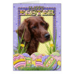 Easter Egg Cookies - Irish Setter Greeting Card