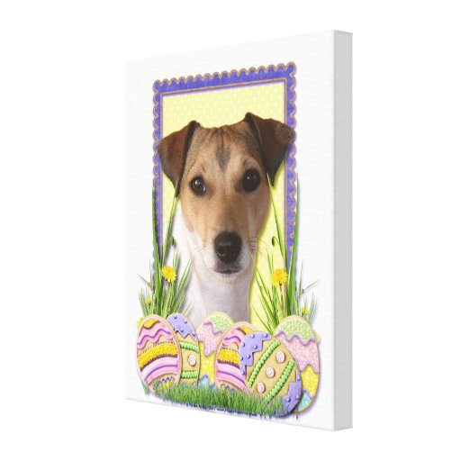 Easter Egg Cookies - Jack Russell Canvas Print