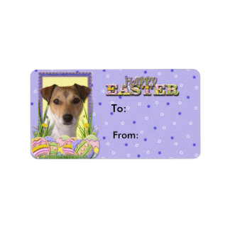 Easter Egg Cookies - Jack Russell Personalized Address Label