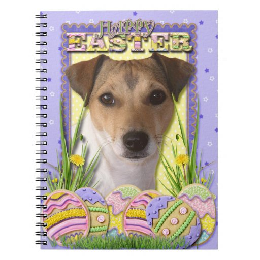 Easter Egg Cookies - Jack Russell Spiral Note Book