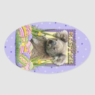Easter Egg Cookies - Koala Oval Sticker
