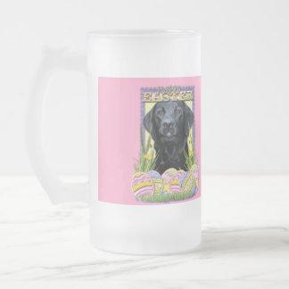 Easter Egg Cookies - Labrador - Black Frosted Glass Beer Mug