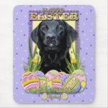 Easter Egg Cookies - Labrador - Black Mouse Pad