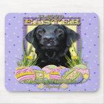 Easter Egg Cookies - Labrador - Black Mousepad