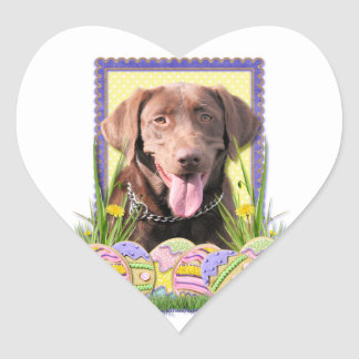 Easter Egg Cookies - Labrador - Chocolate Heart Sticker
