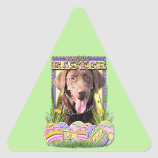 Easter Egg Cookies - Labrador - Chocolate Triangle Sticker