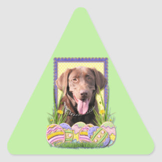 Easter Egg Cookies - Labrador - Chocolate Triangle Stickers