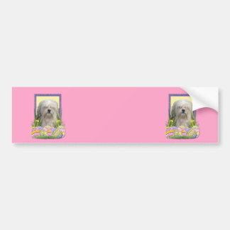 Easter Egg Cookies - Lowchen Bumper Sticker