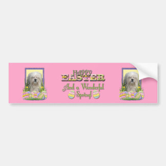 Easter Egg Cookies - Lowchen Car Bumper Sticker