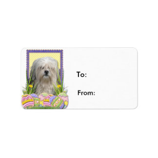 Easter Egg Cookies - Lowchen Address Label