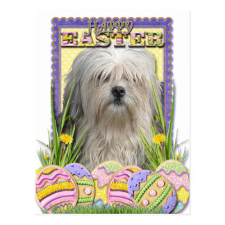 Easter Egg Cookies - Lowchen Post Card