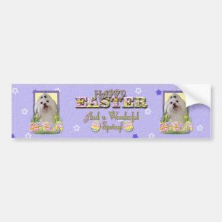 Easter Egg Cookies - Maltese Bumper Sticker