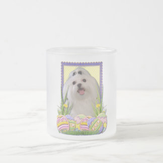 Easter Egg Cookies - Maltese Frosted Glass Coffee Mug
