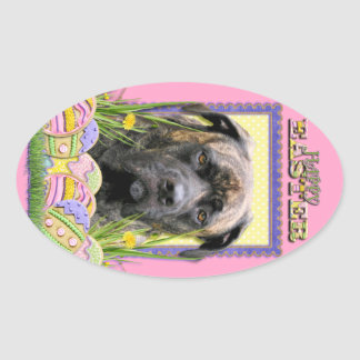 Easter Egg Cookies - Mastiff Oval Stickers