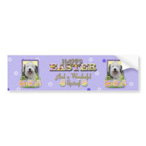 Easter Egg Cookies - Old English Sheepdog Bumper Sticker