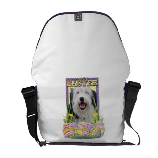 Easter Egg Cookies - Old English Sheepdog Messenger Bag