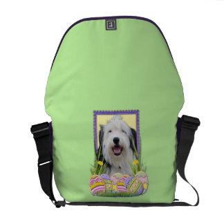 Easter Egg Cookies - Old English Sheepdog Messenger Bags