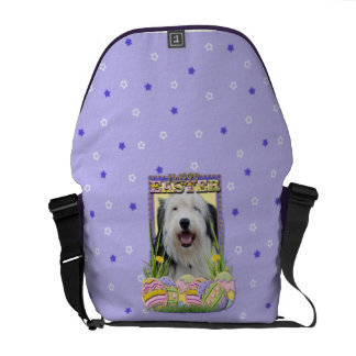 Easter Egg Cookies - Old English Sheepdog Courier Bag