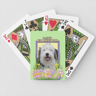 Easter Egg Cookies - Old English Sheepdog Card Decks