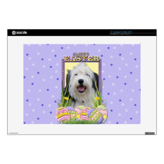 "Easter Egg Cookies - Old English Sheepdog Skins For 15"" Laptops"
