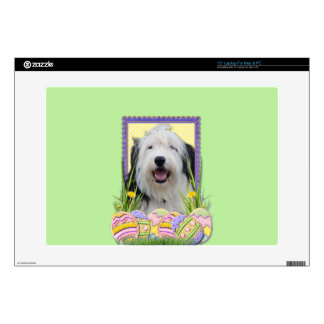 "Easter Egg Cookies - Old English Sheepdog 15"" Laptop Decal"