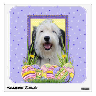 Easter Egg Cookies - Old English Sheepdog Wall Sticker