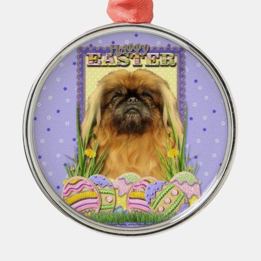 Easter Egg Cookies - Pekingese - Pebbles Ornament