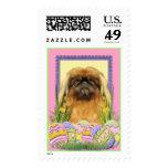 Easter Egg Cookies - Pekingese - Pebbles Postage Stamp