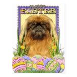 Easter Egg Cookies - Pekingese - Pebbles Postcard