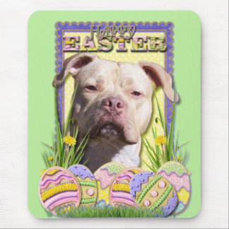 Easter Egg Cookies - Pitbull - Jersey Girl Mouse Pad