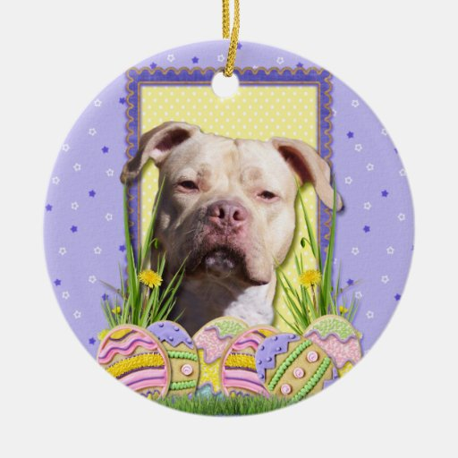 Easter Egg Cookies - Pitbull - Jersey Girl Christmas Tree Ornaments