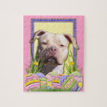 Easter Egg Cookies - Pitbull - Jersey Girl Puzzle