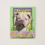 Easter Egg Cookies - Pitbull - Jersey Girl Jigsaw Puzzle