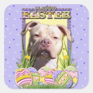 Easter Egg Cookies - Pitbull - Jersey Girl Square Sticker