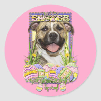Easter Egg Cookies - Pitbull - Tigger Classic Round Sticker