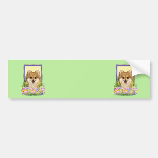 Easter Egg Cookies - Pomeranian Bumper Sticker