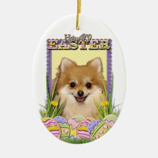 Easter Egg Cookies - Pomeranian Christmas Tree Ornament