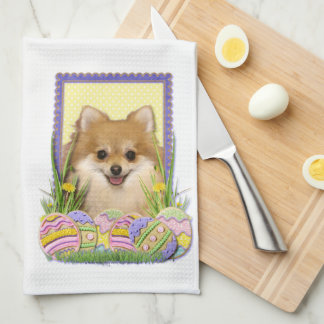 Easter Egg Cookies - Pomeranian Towel