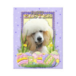 Easter Egg Cookies - Poodle - Apricot Gallery Wrapped Canvas