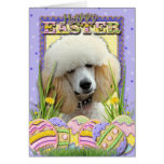Easter Egg Cookies - Poodle - Apricot Greeting Cards