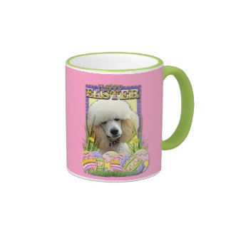 Easter Egg Cookies - Poodle - Apricot Ringer Coffee Mug