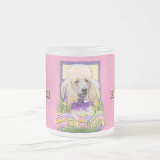 Easter Egg Cookies - Poodle Champagne Coffee Mugs