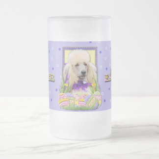 Easter Egg Cookies - Poodle - Champagne Frosted Glass Beer Mug